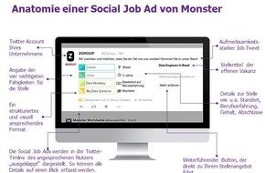 Monster Switzerland AG: Monster stellt neue Social Recruiting Anzeigen vor