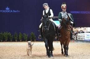Messe Berlin GmbH: Start für die HIPPOLOGICA Berlin / Pferdesportmesse unter dem Berliner Funkturm: Packende Turniere, Shows und Reitkunst stehen auf dem Programm.