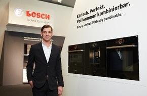 """Robert Bosch Hausgeräte GmbH: Schwarze Serie 8 von Bosch ist """"Best of Best""""! / Innovatives Design der neuen Gerätereihe mit dem Interior Innovation Award 2015 ausgezeichnet"""