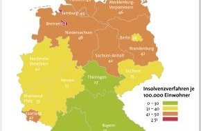 BÜRGEL Wirtschaftsinformationen GmbH & Co. KG: Weniger Privatinsolvenzen in Deutschland