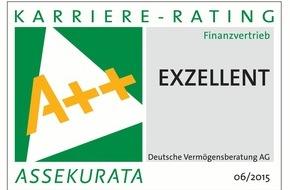 DVAG Deutsche Vermögensberatung AG: Karriere-Rating 2015: Exzellente Karriereperspektiven für Vermögensberater bei der Deutschen Vermögensberatung (DVAG) (FOTO)