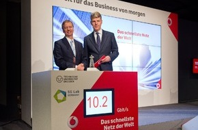 Vodafone GmbH: Vodafone präsentiert mit 5G-Netz schnellstes Mobilfunknetz der Welt