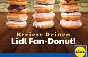 LIDL: Backe, backe Donut / Lidl-Fans kreieren auf Facebook ihren Lidl-Fan-Donut