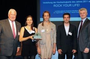 Stifterverband für die Deutsche Wissenschaft: Stifterverband zeichnet ROCK YOUR LIFE aus