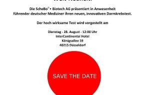 ScheBo Biotech AG: Weltneuheit: ScheBo Biotech AG stellt in Kürze hochinnovativen Biomarker zur Darmkrebsvorsorge vor