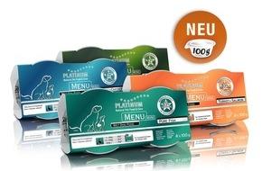 """PLATINUM Gmbh & CO KG: Ideal für kleinere Hunde: """"PLATINUM MENU"""" jetzt auch in """"Mini""""-Größe erhältlich"""