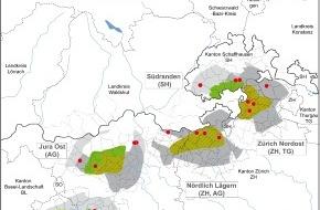 Nagra: Entsorgung radioaktiver Abfälle - Standortvorschläge für die Oberflächenanlagen geologischer Tiefenlager bekanntgegeben