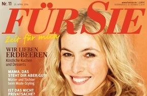 """Jahreszeiten Verlag, FÜR SIE: Kino-Star Karoline Herfurth im Exklusiv-Interview mit der FÜR SIE: """"Einfach in den Tag hinein leben - das fehlt mir"""""""