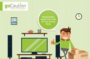 goCaution AG: goCaution.ch: Die erste papierlose Mietkaution in der Schweiz geht online