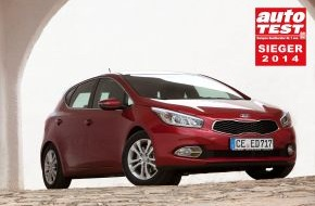 """KIA Motors Deutschland GmbH: Kia ceed* ist """"AUTO TEST Sieger 2014"""""""