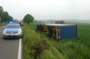 Polizeidirektion Montabaur: POL-PDMT: Nachtrag  Wildunfall mit umgekipptem LKW-Güterzug