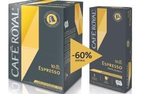 Migros-Genossenschafts-Bund: Migros: Café Royal-Kaffeekapseln mit 60% weniger Verpackungsmaterial
