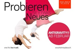 Holmes Place Schweiz: Einladung zum Media-Training: 18. Februar Zürich / AntiGravity® Fitness und Holmes Place kündigen umfassende Partnerschaft in der Schweiz an