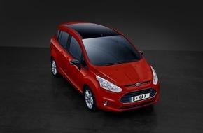 """Ford-Werke GmbH: Ford B-MAX: Neue Ausstattungsversion """"Colourline"""" und stärkerer 1,0-Liter-EcoBoost-Motor"""