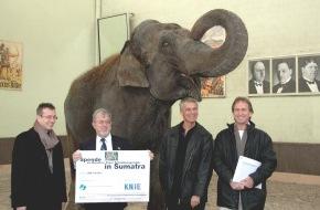 Circus KNIE - Schweizer National-Circus AG: Circus KNIE: Wettbewerb und Spende für den Sumatra-Tiger
