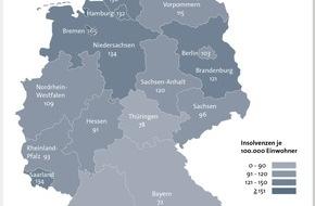 BÜRGEL Wirtschaftsinformationen GmbH & Co. KG: 7,2 Prozent weniger Privatinsolvenzen in Deutschland - Männer aus Bremen zwischen 31 und 40 Jahren statistisch am häufigsten von der Insolvenz betroffen