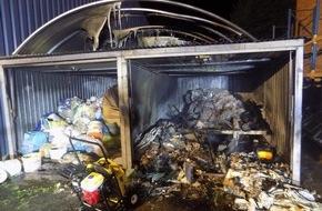 Polizeidirektion Pirmasens: POL-PDPS: Thaleischweiler-Fröschen, Sachbeschädigung durch Feuer