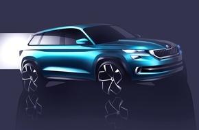 Skoda Auto Deutschland GmbH: SUV-Designstudie SKODA VisionS feiert Premiere in Genf
