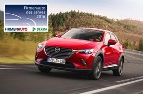 """Mazda: Mazda CX-3 und Mazda6 sind """"Firmenauto des Jahres 2016"""""""