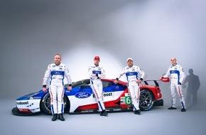 Ford-Werke GmbH: Ford stellt Fahrer-Aufgebot für die beiden Ford GT in der FIA Langstrecken-Weltmeisterschaft vor