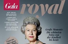 """Gruner+Jahr, Gala: GALA ROYAL """"Ein Leben für die Krone"""": Das Sonderheft zum 90. Geburtstag der Queen"""