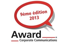 Award Corporate Communications: Award Corporate Communications® 2013 / Lancement des inscriptions pour le 9e Award-CC