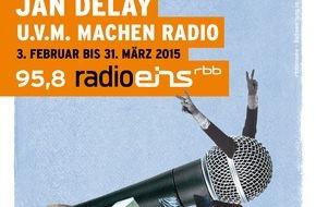 """Rundfunk Berlin-Brandenburg (rbb): Ab Dienstag """"Freundliche Übernahme"""": Prominente wie Beatsteaks, Modeselektor und NENA bei Radioeins vom rbb an den Reglern - Fritz Kalkbrenner macht den Anfang"""
