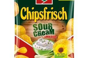Intersnack Knabber-Gebäck GmbH & Co. KG: Die neue Würze von Chipsfrisch: funny-frisch Chipsfrisch Sour Cream & Wild Onion
