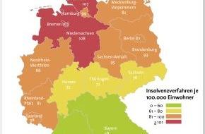 BÜRGEL Wirtschaftsinformationen GmbH & Co. KG: 4,7 Prozent weniger Privatinsolvenzen in Deutschland / Anstieg der Insolvenzzahlen bei den jungen Erwachsenen