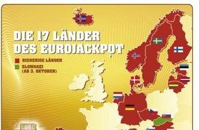 Eurojackpot: Eurojackpot wächst weiter - Mit der Slowakei spielen 17 europäische Länder um den Eurojackpot