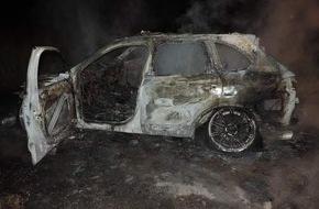 Polizeiinspektion Nienburg / Schaumburg: POL-NI: Porsche gestohlen und ausgebrannt