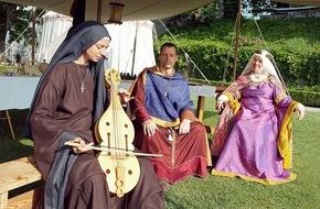 Museum Aargau: Grafen, Ritter und Gefolge sind in Festlaune / Auf Schloss Lenzburg finden vom 22. bis 24. Juli mittelalterliche Erlebnistage statt