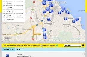 Touring Club Schweiz/Suisse/Svizzero - TCS: Behindertenparkplätze einfacher finden