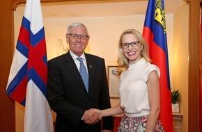 Fürstentum Liechtenstein: ikr: EFTA im Mittelpunkt des Gesprächs mit Aussenminister der Färöer Inseln