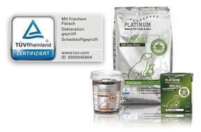 PLATINUM Gmbh & CO KG: TÜV Rheinland zertifiziert PLATINUM-Hundenahrung