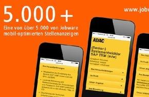 Jobware Online-Service GmbH: Mehr als 5.000 Stellenanzeigen ge.MOPS.t / Mobil-optimierte Stellenanzeigen (MOPS) lassen sich mobil perfekt lesen