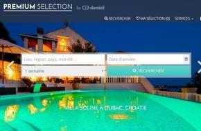 e-domizil AG: e-domizil lance PREMIUM SELECTION - un nouveau portail pour les locations vacances de luxe (IMAGE)