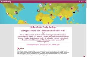 Monsterzeug GmbH: Eichhörnchenangst, schwarze Nudeln, und Malwettbewerbe - So kurios feiert die Welt den Valentinstag!