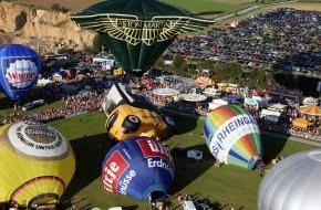 Warsteiner Brauerei: Ballooning-Spektakel im Sauerland / 22. Warsteiner Internationale Montgolfiade (WIM) begeistert  wieder mit spektakulären Massenstarts, Ballon-Wettbewerben und Night-Glows