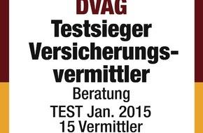 DVAG Deutsche Vermögensberatung AG: Versicherungsvermittler-Test im Auftrag von n-tv: AachenMünchener und Deutsche Vermögensberatung (DVAG) erneut Testsieger bei Servicestudie zur Beratungsqualität