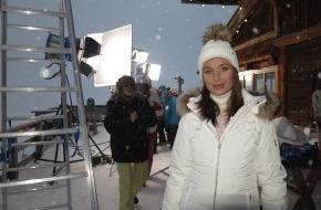 Tourismusbüro Kühtai: Ehemalige Miss Universe dreht im Kühtai den neuesten Werbefilm für den größten Mobilfunkbetreiber Russlands