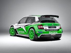 Der neue SKODA Fabia R 5 feiert seine Premiere auf den Rallye-Pisten dieser Welt