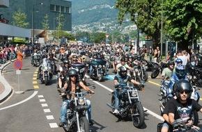 Harley-Davidson Switzerland GmbH: 70'000 Besucher und 25'000 Motorräder in Lugano - die Swiss Harley Days 2015 waren ein voller Erfolg