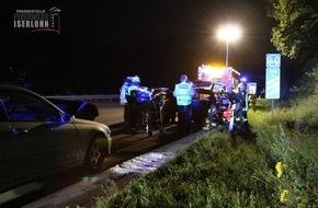Feuerwehr Iserlohn: FW-MK: Verkehrsunfall auf der Autobahn 46, drei verletzte Personen.