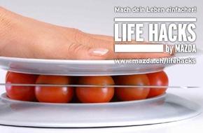 Mazda (Suisse) SA: LIFE HACKS by MAZDA: Praktische Lebenshilfe statt klassische Werbung / Der japanische Automobilhersteller Mazda geht offen damit um, eine andersdenkende Marke zu sein