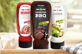 Body Attack Sports Nutrition: Vegane Saucen und Dressings ohne Kalorien / Body Attack Sports Nutrition bringt zum 1. Juli Grill Saucen, Dressings und Dessert Saucen auf den Markt