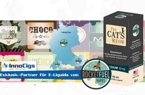 InnoCigs GmbH & Co. KG: Endlich auch in Deutschland: InnoCigs wird Exklusiv-Distributor für Rocket Fuel Erfolgsliquids aus den USA