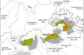 Nagra: Gestion des déchets radioactifs - Communication des propositions de sites pour les installations de surface de dépôts géologiques profonds
