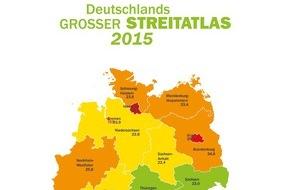 Advocard Rechtsschutzversicherung AG: Deutschland streitet immer mehr - Berlin bleibt Nummer eins