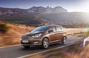 Ford-Werke GmbH: Der neue Ford C-MAX und Grand C-MAX: noch stilvoller, noch komfortabler und noch hochwertiger (FOTO)